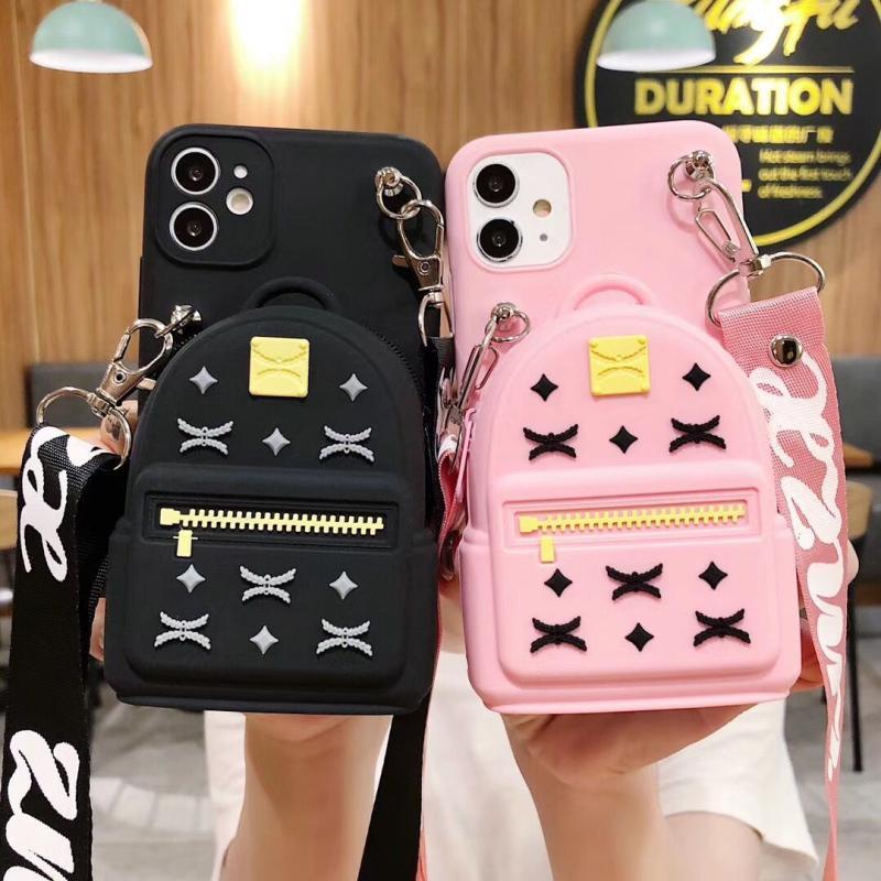 Cute 3D Fashion Coin Purse Couple Soft Case For Iphone 11 12 Pro Max Mini 7 8 Plus Xr X Xs Max Se 2 Silicone Phone Cover Fundas