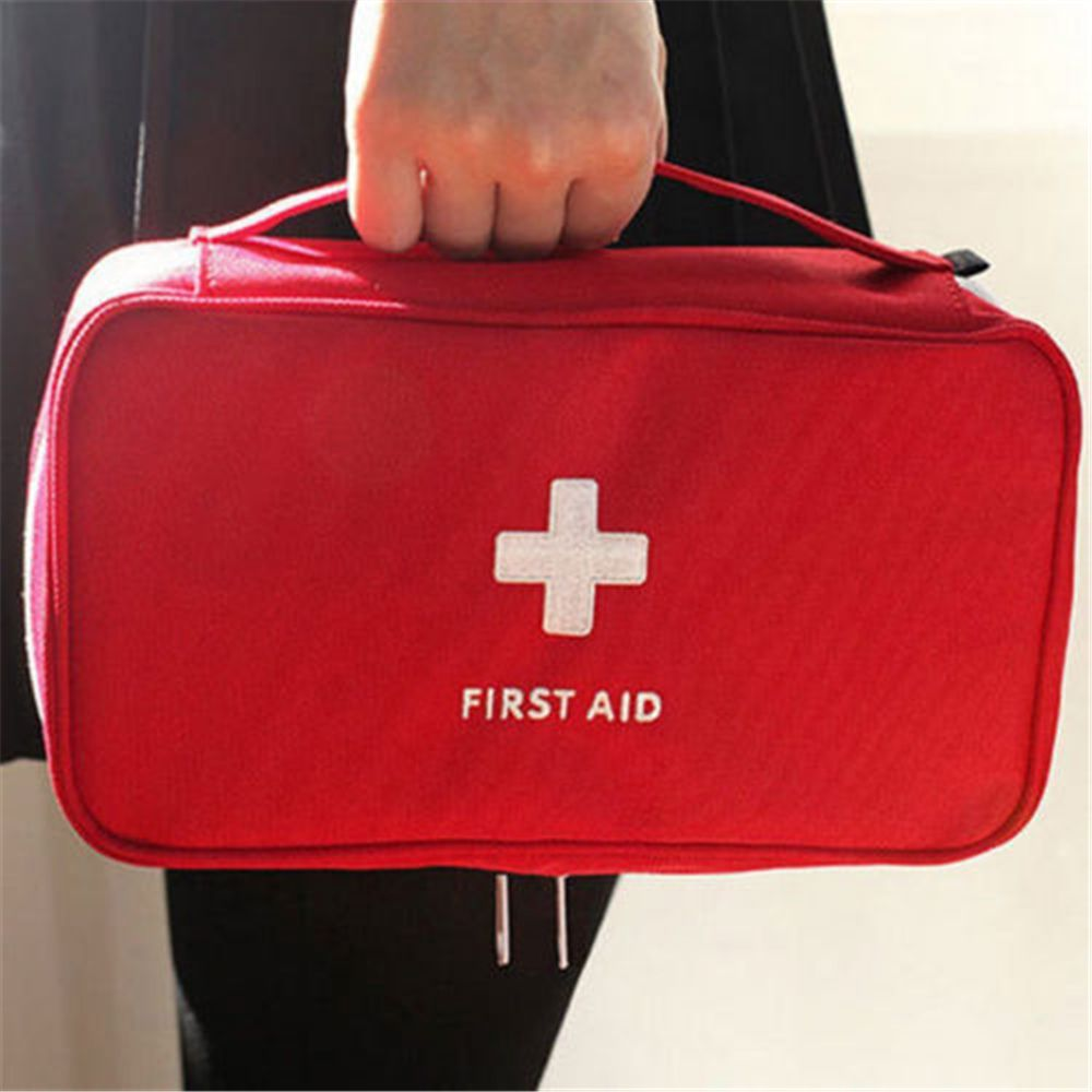 NEW Type Hot -selling Travel First Aid Kit Bag Home Emergency Medical Survival Rescue Box Red
