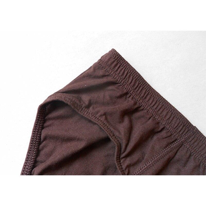 Image 4 - Briefs Men 4 pieces/lot Sexy Underwear 100% Cotton Plus Size Male Panties Shorts Grey blue brown black Brand BUDDLEJABriefs   -