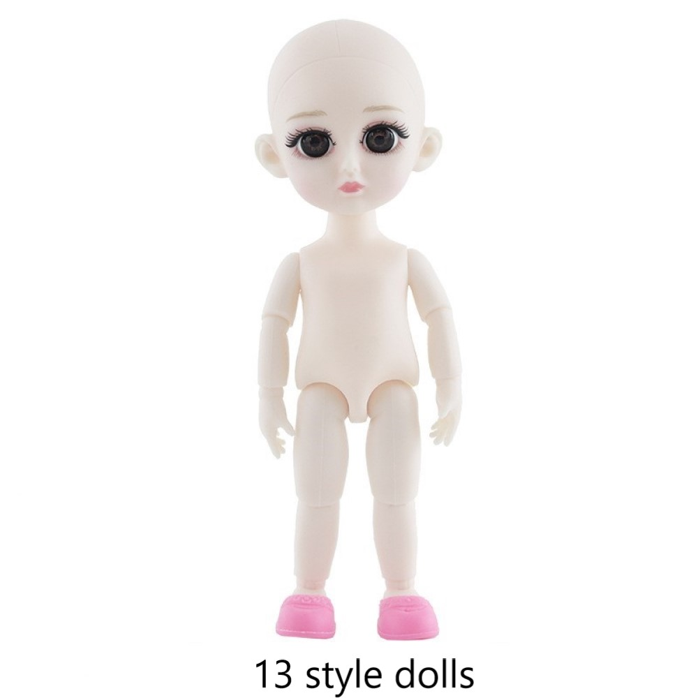 Lovely Simulation Baby Doll Nude Body 1//12 BJD Dolls for Little Girl Gifts
