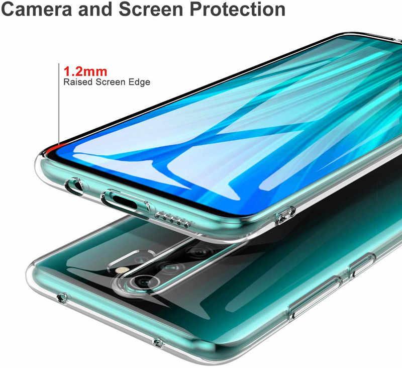 Przezroczysty przezroczysty obudowa do Xiaomi mi 9 8 zabawa czerwony mi 8A 7A 6A na czerwonym mi uwaga 8 uwaga 7 6 5 Pro S2 Go 4 4X K20 Pro miękkie etui z termoplastycznego poliuretanu