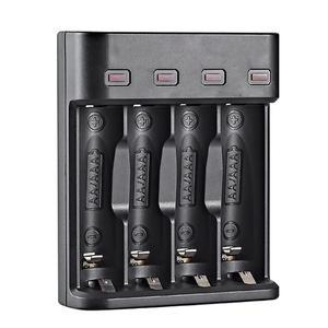 Image 1 - סוללה מטען 4 חריץ USB מטען 4 חריצים מהיר טעינה אינטליגנטי AA/AAA נטענת USB סוללה מטען 4A סוללה מטען