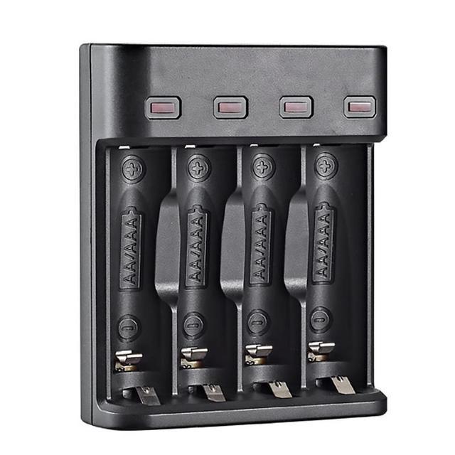 סוללה מטען 4 חריץ USB מטען 4 חריצים מהיר טעינה אינטליגנטי AA/AAA נטענת USB סוללה מטען 4A סוללה מטען