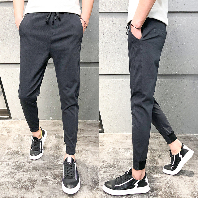 Pantalones Hombre Fashion 2020 New Spring Streetwear Joggers Men Slim Fit All Match Solid Casual Pants Men Drawstring Trousers 4