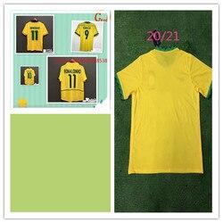 NEYMAR JR new 2021 Classic retro 2002 RONALDINHO 11 RIVALDO 10 T-shirt 1994 ROMARIO 11 1998 RONACDO 9 quality jersey mens spring