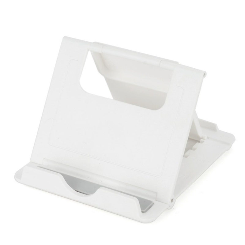 Multi-Angle View Tablet Stand Holder Portable And Adjustable Tablet Cell Phone Stand Holder White