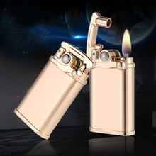 Design Lighter Men Gadgets Kerosene Oil Lighter Gas Grinding Wheel Cigarette Retro Cigar Tobacco Bar Lighters Gadgets For Men zorr lighter gasoline lighter kerosene oil petrol lighter refillable cigarette metal retro men gadgets bar lighters