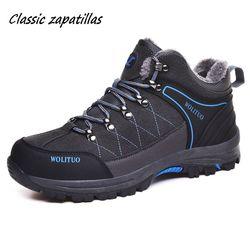 Botas de homens de Tamanho 36-46 Designer Mens Sapatos Botas de Inverno Com Pele Manter Quente Botas De Neve Homens Homens Tornozelo botas de Tênis Ao Ar Livre Masculino