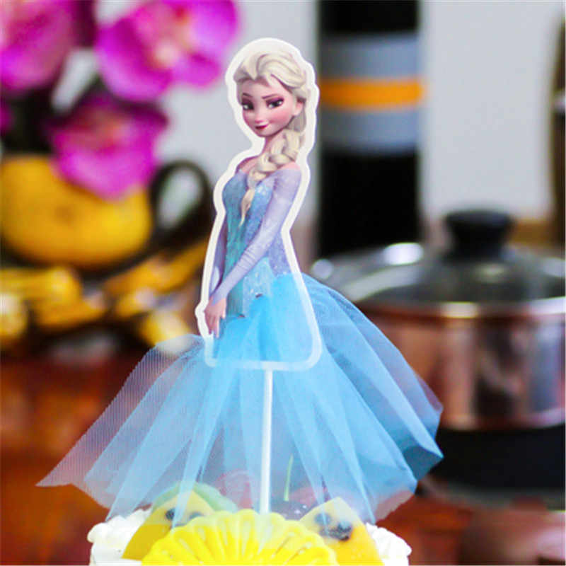 Adornos de Pastel de Navidad Linda serie de princesas Blancanieves Sofia Cenicienta Cupcake Toppers suministros de fiesta Decoración de cumpleaños suministros