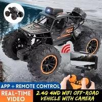 Coche todoterreno teledirigido RC 4WD de 2,4G con WIFI, FPV, cámara HD, alta velocidad, coche de derrape, escalada, regalo para el coche para niños