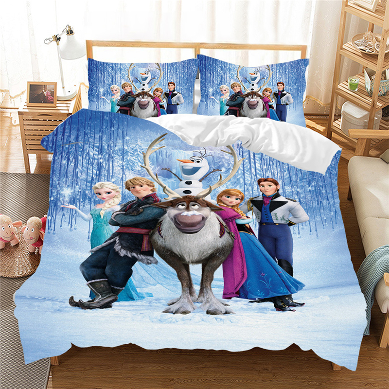 Girls Bedding Set Frozen Elsa Anna, Elsa Bedding Set Queen