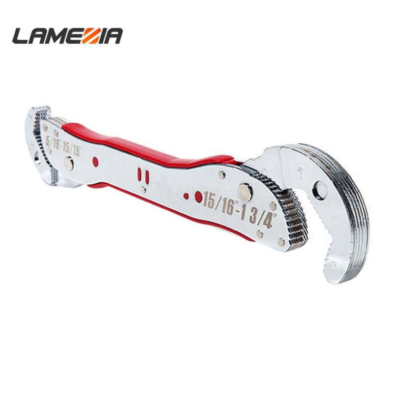 LAMEZIA 9-45mm Carbon Steel Adjustable Multi Purpose Spanner Tools Magic Bionic Universal Wrench Pipe