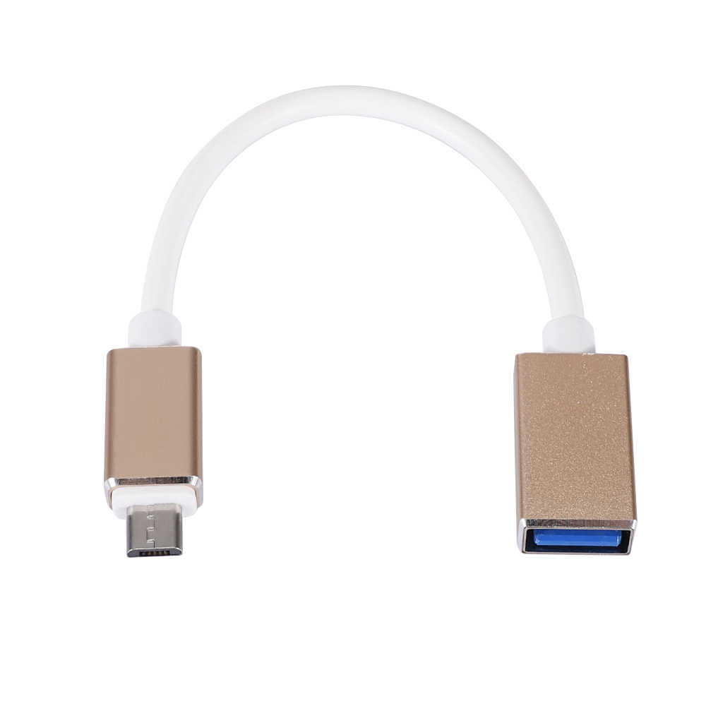 Metal OTG Cable USB 3.0 Adapter for Android Samsung S6 Redmi Note 5 Micro USB Connector for Xiaomi Tablet PC OTG Adapter