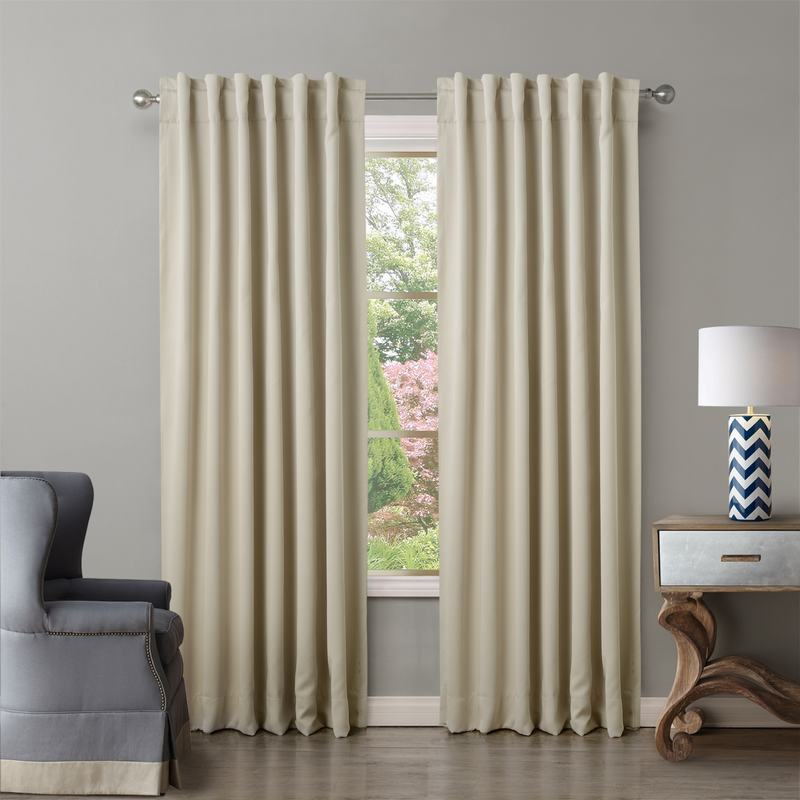 Pinch Pleat Back Tab Grommet Solid Blackout Curtain Drapery Insulated Curtain ChadMade Paz (1 Panel) Size Custom,12 Colors Drape