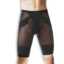 Mens Compression Shaping Shorts Quick Dry Training Body Building Underwear Tight Short Pants Bodysuit High-waist Sports