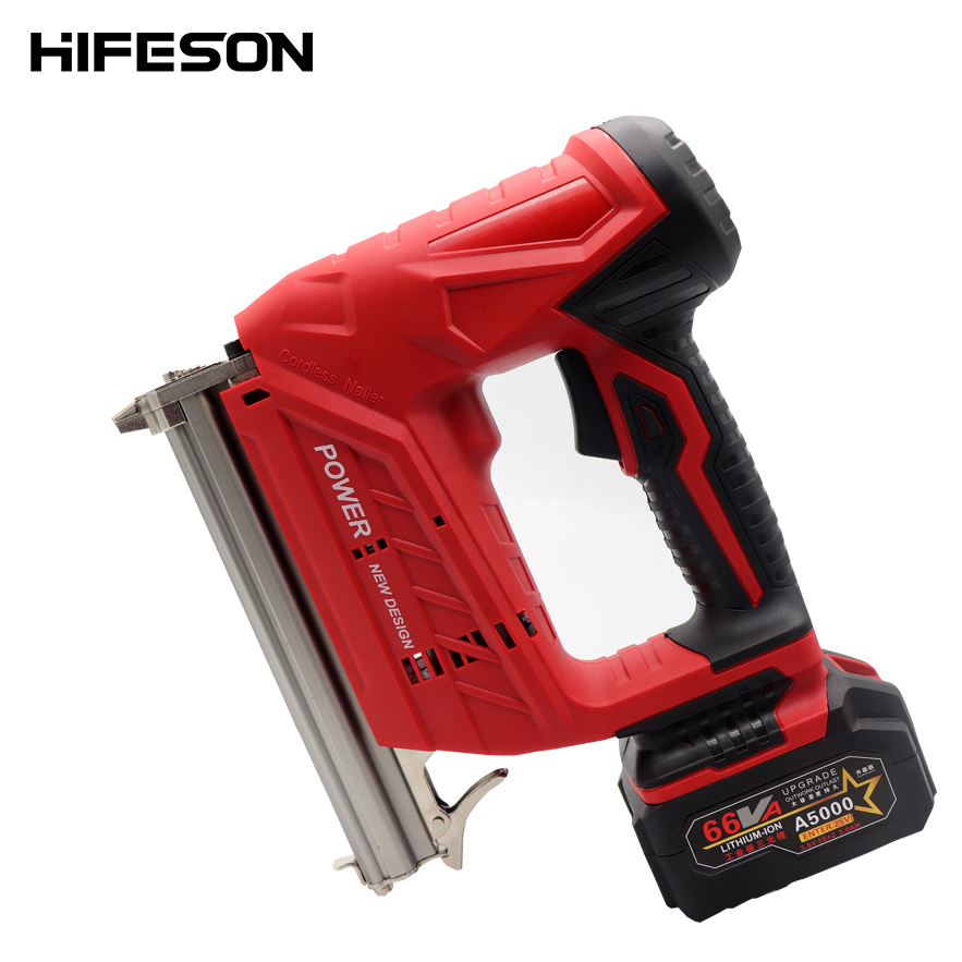 Wireless Electric Nail Guns 1500/3000MA 22mm Nailer Stapler Furniture Frame Carpentry Wood Working Tools
