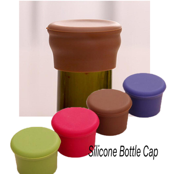 Modern Flavored Beer Beverage Kitchen Champagne Closures Silicone Bar Wine Stopper Fresh Keeping Bottle Caps Kitchen Accessories image
