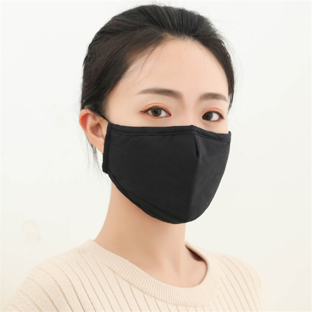 4pcs Cotton Black Mask Mouth Face Mask Anti PM2.5 Dust Mouth Mask 8pcs Activated Carbon Filter Mask Fabric Face Mask washable 2