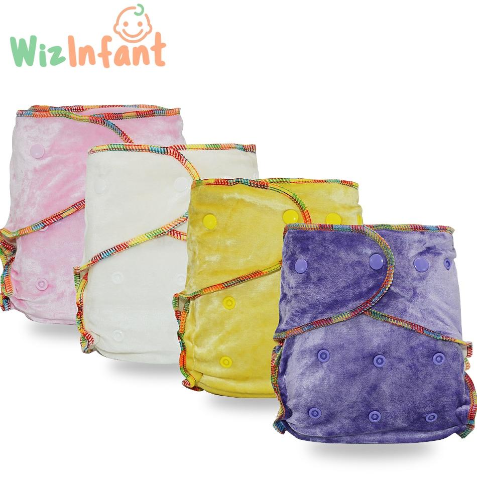 WizInfant бамбуковые велюровые подгузники AI2, один размер, без синтетического материала, не трогайте кожу ребенка, от рождения до горшки/5-18 кг ре...