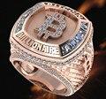 Kreative Neue Mode Bitcoin Metall Ring Intarsien Zirkonia Schmuck Hochzeit Partei Schmuck Jahrestag Geschenk