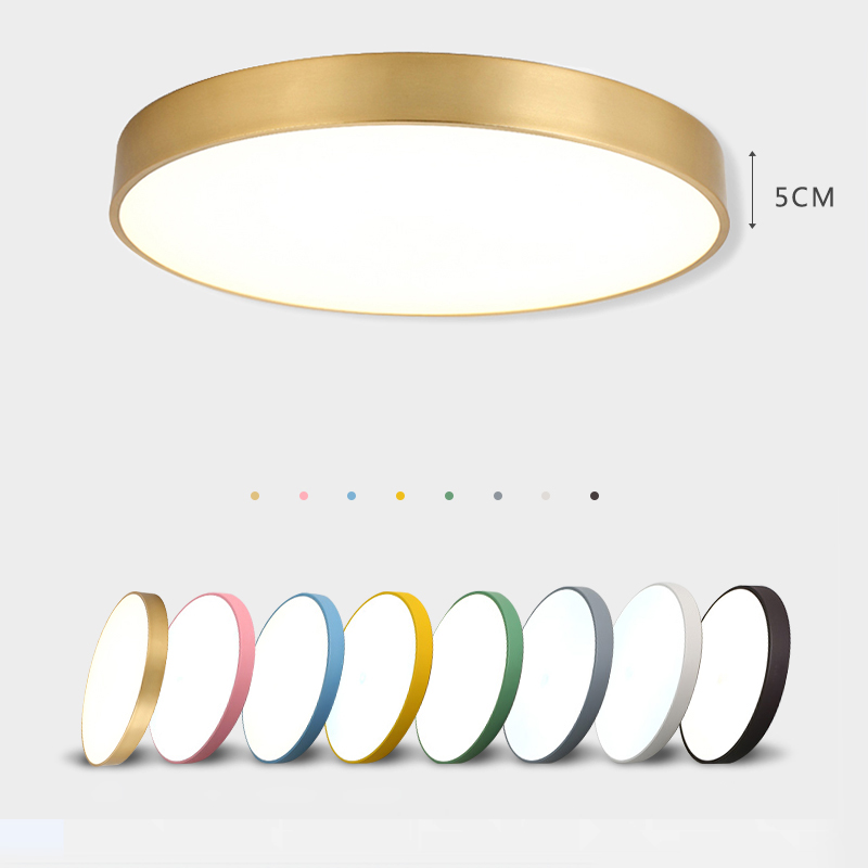 LED Modern Iron Acryl Round Black White 5cm Thin LED Lamp LED Light Ceiling Lights LED Ceiling Light  Ceiling Lamp For Foyer