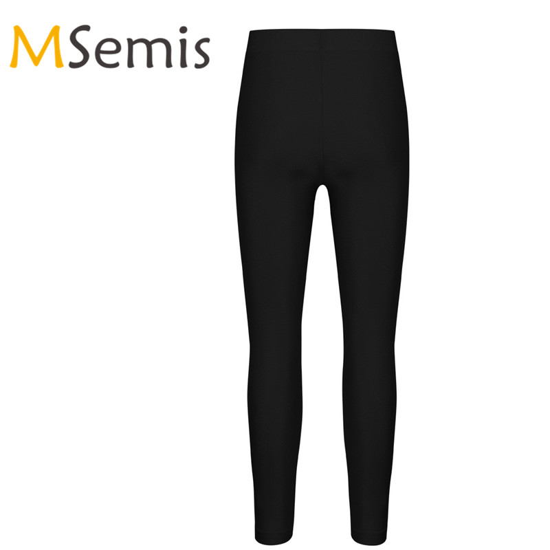 Kids Girls Sports Tights Pants Ankle Length Stretchy Seamless Sportwear Children's Yoya Long Pants Gymnastics Leotard Leggings
