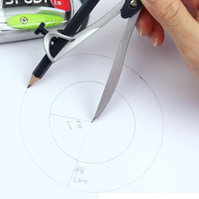 Math-Geometry Compasses-Set Pencil Drafting-Tools Maped Drawing Metal School Automatic