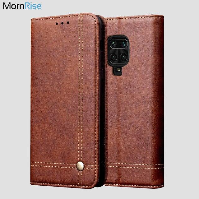 Capa de couro retro flip para xiaomi redmi nota 9 pro caso carteira suporte de cartão magnético livro capa para redmi nota 8 9s 7 9a 9c caso