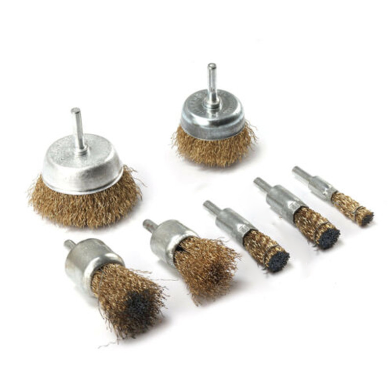 iplusmile Wire End Brush Pen Stainless Steel Drill Brush Rust Corrosion Paint Removal Bits Polishing Rotary Tools Accessories for Grinding Cleaning Silver
