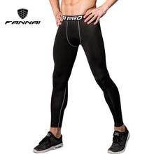 FANNAI Black Sport Mallas Hombre Running Men Jogging Leggings Fitness Gym Clothing Yoga Trousers