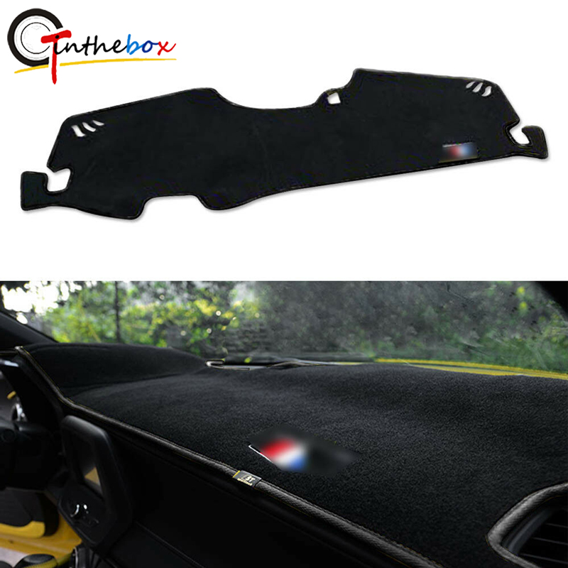 GTinthebox Black Dashboard Cover Dash Mat Dashmat Decor Fit For 2016-17 Chevrolet Camaro