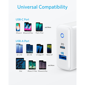 Image 2 - iPhone 12 Charger, Anker 30W 2 Port Fast Charger with 18W USB C Power Adapter, Foldable PowerPort PD 2 for iPhone 12 series