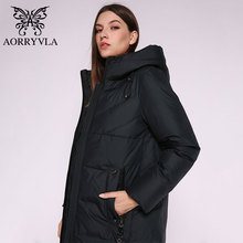 Female Jacket Coat Long-Parka Winter Hood Warm Thick Women's AORRYVLA Biological New-Fashion