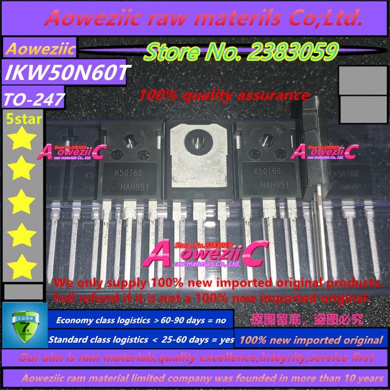Купить с кэшбэком Aoweziic 2019+ 100% new imported original  IKW50N60T K50T60 TO-247 triode IGBT tube 50A600V channel N
