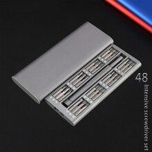 새로운 제품 48 1 미니 정밀 드라이버 도구 세트 방수 옥스포드 가방 휴대 전화 가정용 DIY 수리