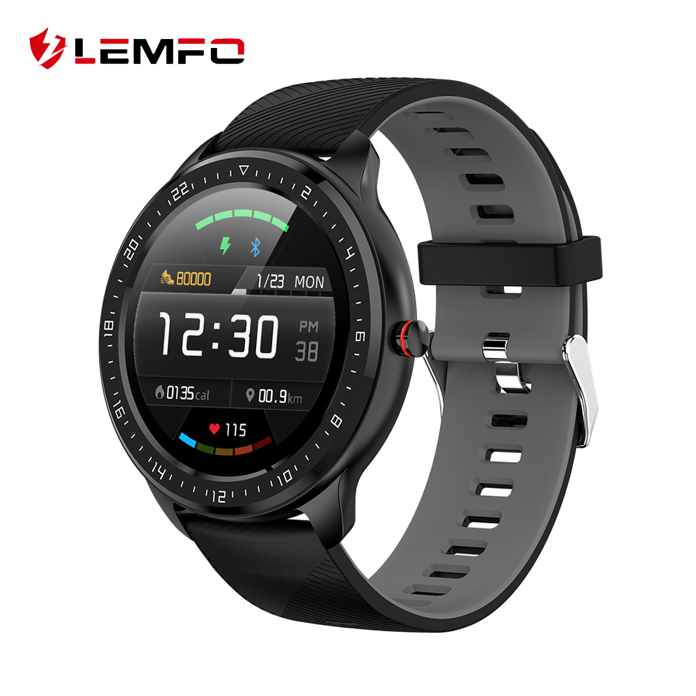 LEMFO 2020 New Smart Watch for Men Full Touch Screen IP67 Waterproof Blood Pressure Heart Rate Monitor for Android IOS