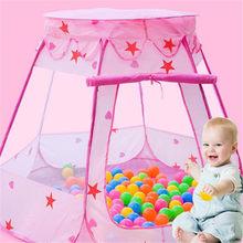 Nouveau Style enfants océan balle fosse piscine jouets en plein air et intérieur bébé jouet tentes bébé filles fée maison tente princesse jouer tente