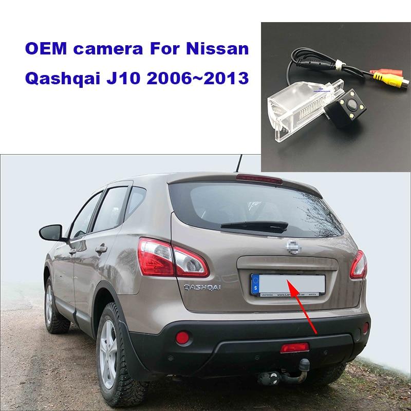Yessun HD CCD Night Vision Car Rear View Reverse Backup Camera Waterproof  For Nissan Qashqai J10 2006~2013