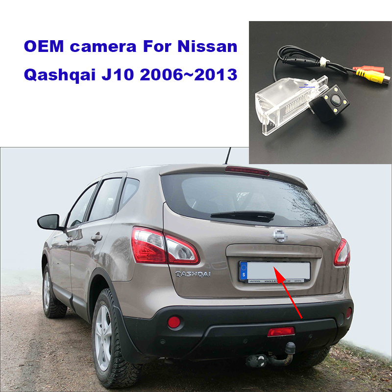 Yessun HD CCD Night Vision Car Rear View Reverse Backup Camera Waterproof  For Nissan Qashqai J10 2006~2013