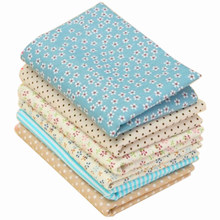 6PCS 100% Cotton 25*25cm Fabric Cotton Floral Sewing Quilting Tissue Cloth DIY Crafts Textile high quality(China)