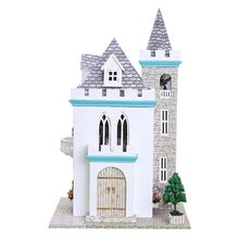 Doll house model toys role play elegant house  furnishing articles Moonlight Castle room children toys kids educational toys doll house model toys role play elegant house furnishing warm time room children toys kids educational toys