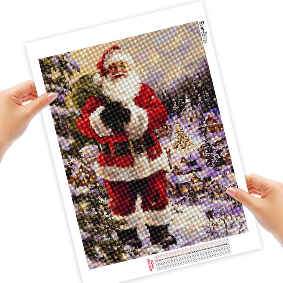 EverShine 5D DIY Christmas Diamond Painting Full Square Santa Claus Cross Stitch Rhinestones Art Bead Picture Kits Home Decor-1