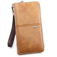 Men's Wallet Clutch Bag Card Holder Long Zipper Wal