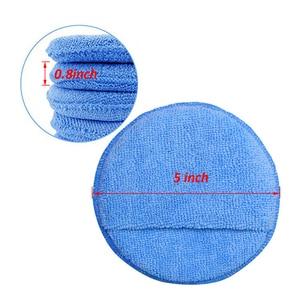 "Image 4 - 10pcs Car Waxing Polish Soft Microfiber Foam Sponge Applicator Cleaning Detailing Pads 5"""