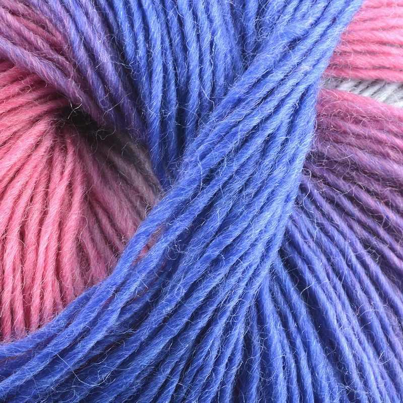 Fashion 180M DIY Lembut Benang Tipis Crochet Rainbow Colorful Benang Wol Katun Alami Serat Susu Tenunan Tangan untuk bayi Benang Wol 50G
