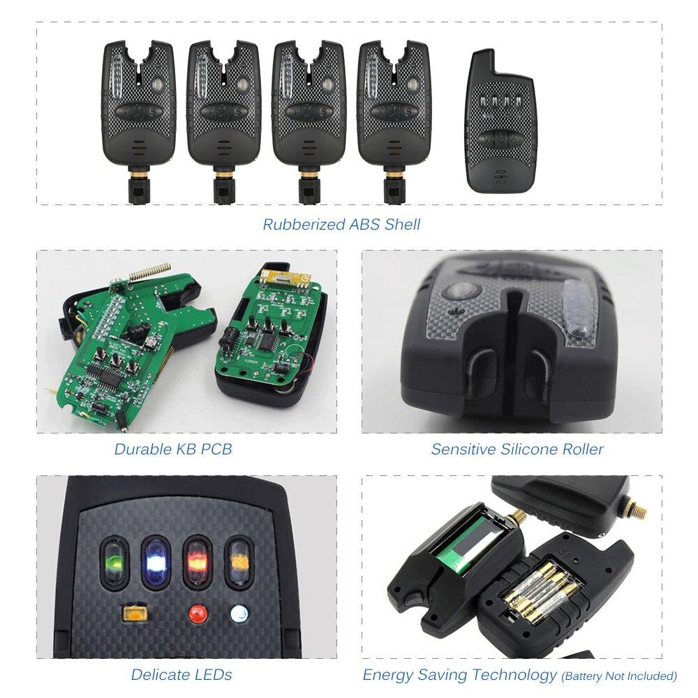 Angeln Alarm Angeln Warnt Beißen Alarm Set Angeln Zubehör Elektronische Led anzeige Laut Ton Alarm Angeln Tackles - 3