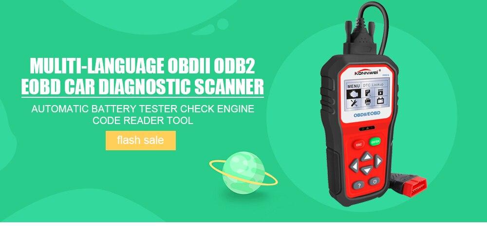 Muliti linguagem obdii odb2 eobd scanner de