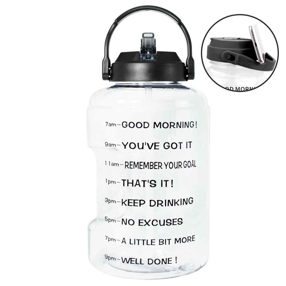 BPA Free with Straw /& Time Marker//Reminder to Drink More Daily//Leak Proof Reusable Large Capacity BuildLife Motivational Gallon Water Bottle