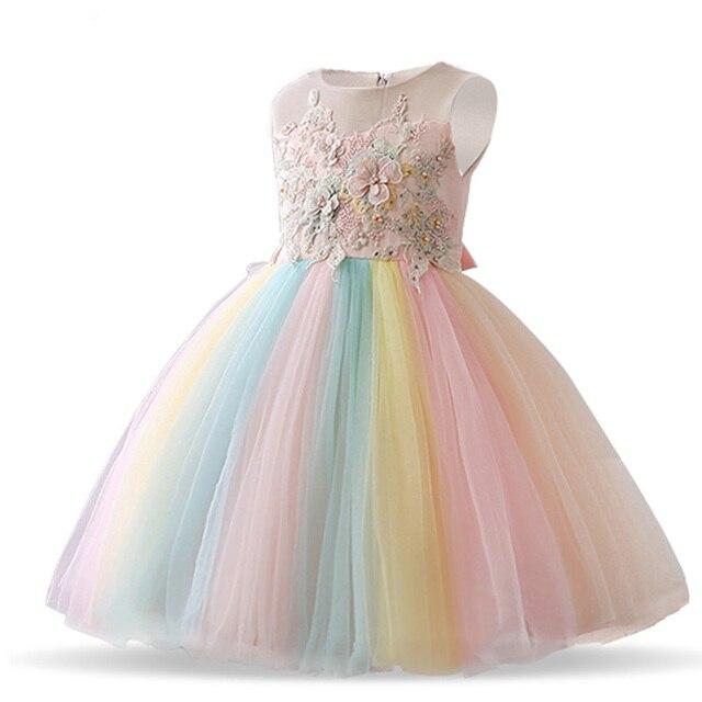 Fantaisie Licorne Fete Fille Robe Bebe Enfants Robes Pour Fille 4 A 10 Ans Robe De Mariee Robe De Soiree Fille Enfants Vetements Aliexpress