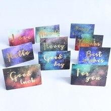 1шт мини звездное лучшее желание удача поздравление открытки с конвертом фестиваль приглашение открытки
